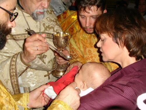 Communion du nouveau baptisé (1er octobre 2005)
